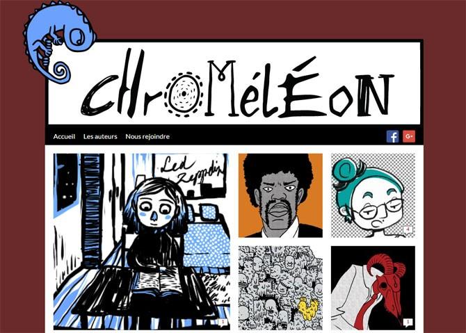 Aperçu du site chromeleon.fr